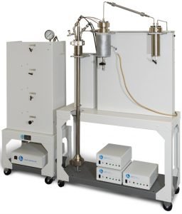 Fluidized Bed Reactor w/heated cyclone separator, cooling condenser & 600 mL product receiver