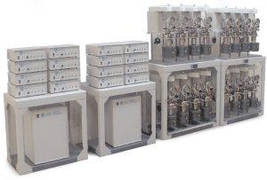 Mehrfachreaktorsystem mit 16 Stationen