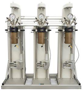 Parallelsystem von drei Reaktoren