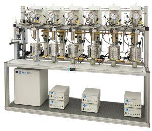 Parallelsystem von sechs Reaktoren mit automatischem Probenahmesystem