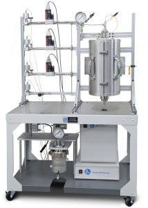 "Tubular Reaction System; Single-zone 12"" heater, gas feed, auto shut off valves, 3 MCFs; purge line. Jacketed Gas/liquid separator; remote PC using 4871 Controller"