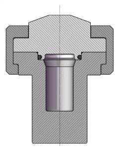 4790-25mL Querschnitt mit O-Ring Verschluss