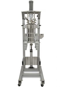 4557 Floor Stand Reactor, 5 Gallon, Fixed Head, 3-Zone Band Heater, with Split Rings and Pneumatic Lift