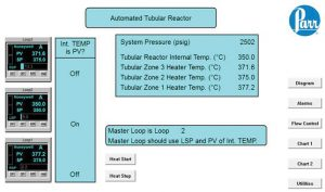 4871 Controller User Interface for Automated Control of Tubular Reactor System