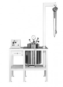 Model 4677 18.5L Floor Stand with Overhead Hoist, and a 4838 Temperature Controller