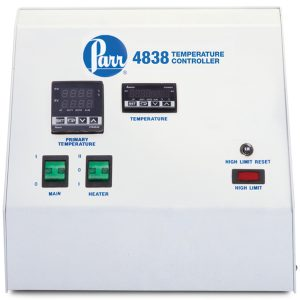 4838 Reactor Controller shown with optional HTM Module