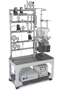 Continuous Flow Stirred Reactor System with four Bronkhorst MFCs
