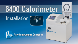 Parr 6400 Calorimeter Installation Video