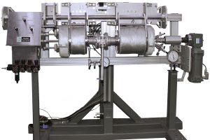 Horizontal Reactor Floor Stand in its horizontal position.