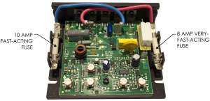 Motor Board and Fuses for 180VDC motors