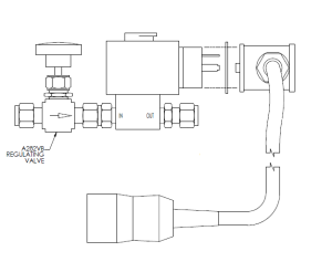 SVM shown with its regulating valve
