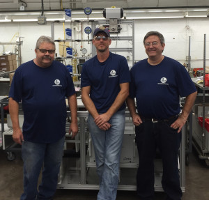Parr Instrument Company's Reactor and Pressure Vessels Assembly Team