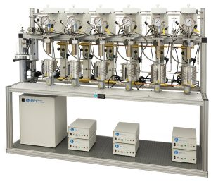 Six Reactor Parallel System with Automated Sampling System