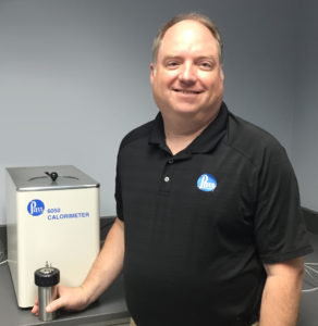 Steve Lierly with the 6050 Calorimeter and 1110 Vessel that appeared on Mythbusters