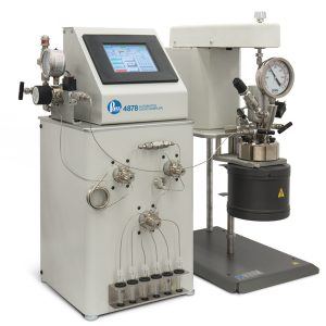 Parr 4878 Automated Liquid Sampler connected to a 4566 Mini Reactor