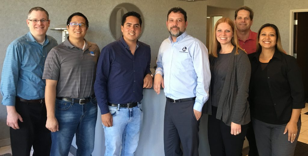 Parr representatives with Mr. Yon. Pictured from left to right: Steve Perry, Conan Collins,Cesar Yon, Kevin Lucas, Lisa Randolph, Tim Kilcoin, & Carolina Saguilan