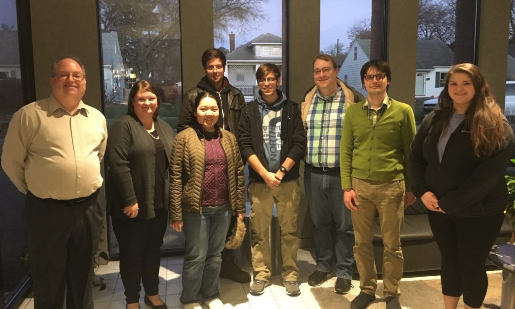 Students and Professors from St. Ambrose University hosted by Parr's Steve Lierly (left) and Dr. Andrei Yermalayeu (second from right).