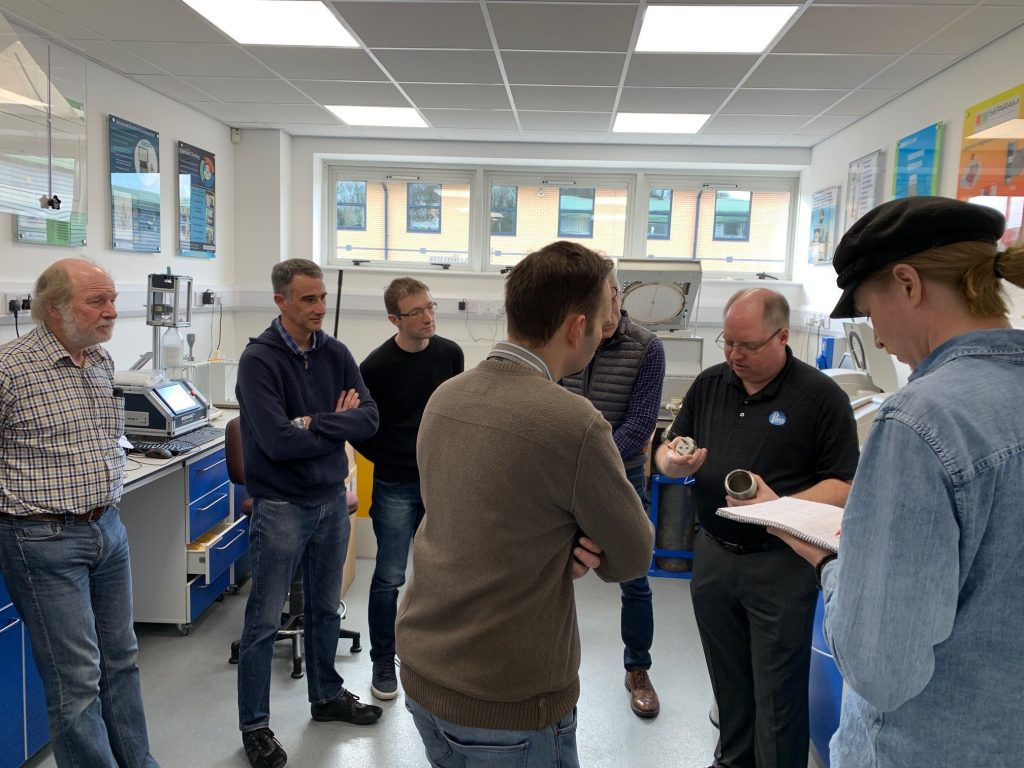 The Training Session included hands on training with Parr Oxygen Bomb Calorimeters.