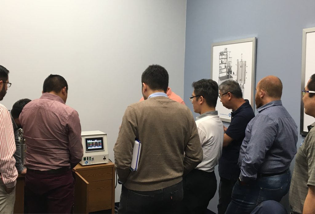Training session for Parr's new 4848T Touchscreen Reactor Controller