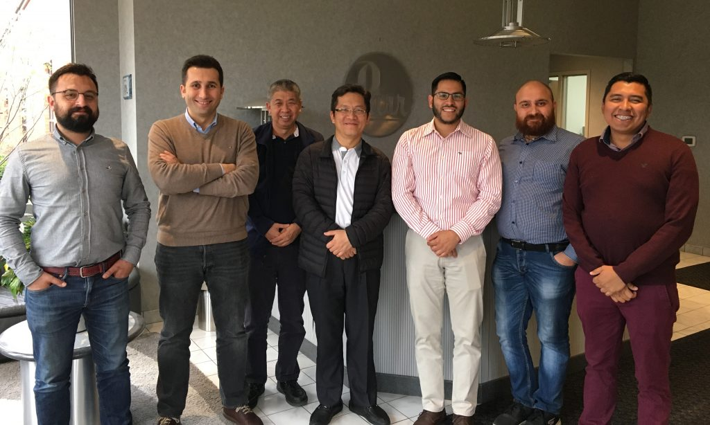 Pictured from left to right: Ufuk Ozgen & Bahadir Bayrak with Terralab in Turkey, Hoe Choy Lin with Hisco (Malaysia) Sdn. Bhd. in Malaysia, Chin Wei Tsai with Zimmerman Scientific Co., Ltd. in Taiwan, Christian Eder Salazar González with Equipar in Mexico, Dr. Antonello Laricchiuta with FKV in Italy, José Antonio Valencia-Bravo with Equipar in Mexico